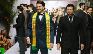 O Mister Brasil 2014 Lucas Montandon, em desfile para M.Zanirato