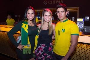 Amanda Cristina, Laís Guerreiro e Guilherme Guimarães