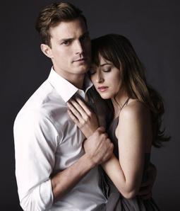 """""""Cinquenta Tons de Cinza"""": filme traz Jamie Dornan como Christian Grey e Dakota Johnson como Anastasia Steele."""