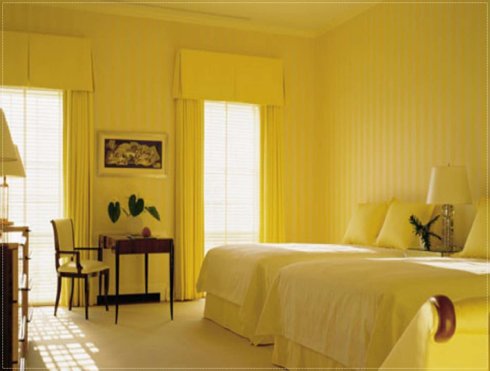 bright yellow bedroom ideas interior design